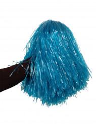 Pompon blu metallizzato