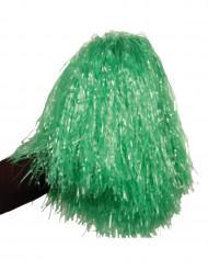 Pompon verde metallizzato