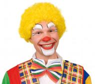 Parrucca afro gialla da clown adulti