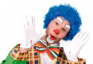 Parrucca afro blu da clown adulti