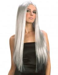Parrucca lunga grigia per donna - Halloween