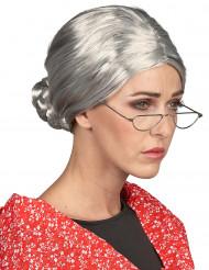 Parrucca da nonna cappelli bianchi donna