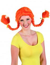 Parrucca arancione donna