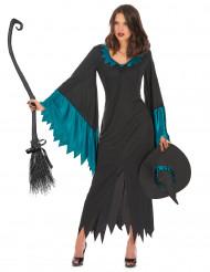 Costume da strega turchese per donna - Halloween