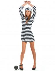 Costume abito da carcerata per donna