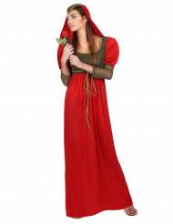 Costume medievale da dama rossa per donna