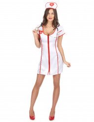 Costume con zip da infermiera sexy donna
