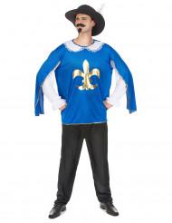 Costume moschettiere blu per uomo