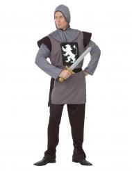 Costume cavaliere con stemma leone da uomo