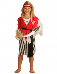 Travestimento da pirata bambina