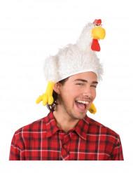 Cappello da gallo bianco