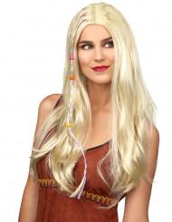 Parrucca hippie bionda adulto