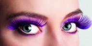 Ciglia finte viola nero adulto.