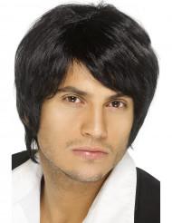 Parrucca nera capelli corti uomo