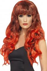Parrucca rossa da sirena donna