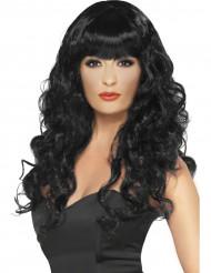 Parrucca nera da sirena donna