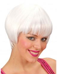 Parrucca corta bianca donna