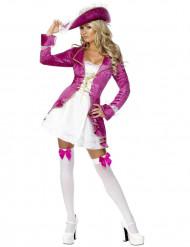 Costume pirata barocco viola per donna