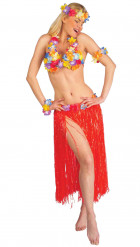 Set Hawaii rosso donna