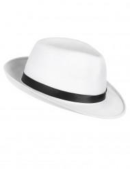 Cappello bianco e nero da gangster adulti