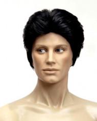 Parrucca nera con taglio anni 80 uomo