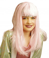 Parrucca rosa dana bambina
