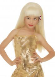 Parrucca bionda glamour bambina