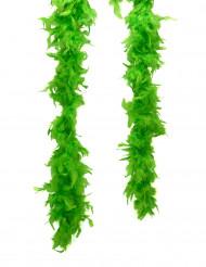 Boa verde di finte piume