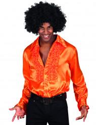 Camicia arancione disco uomo