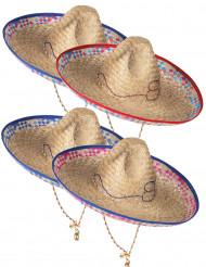Cappello messicano in paglia adulto