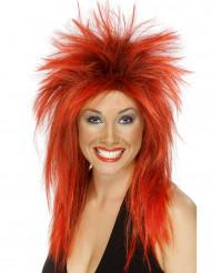 Parrucca rock rossa donna