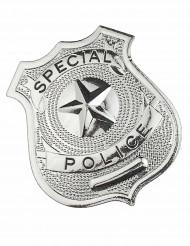 Distintivo da poliziotto in metallo per adulto