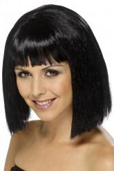 Parrucca bruna con frangia donna