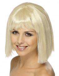 Parrucca bionda con frangia donna