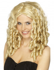Parrucca riccia bionda con boccoli donna