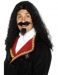 Parrucca moschettiere nera uomo