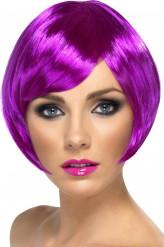 Parrucca corta viola donna