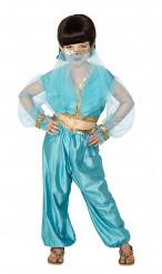Costume azzurro danzatrice orientale bambina