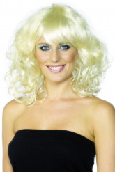Parrucca bionda ondulata donna