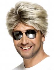 Parrucca bionda capelli corti uomo