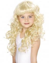 Parrucca bionda da principessa per bambina
