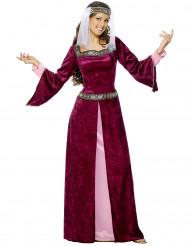 Costume regina porpora medievale donna
