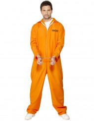 Costume tuta arancio da prigioniero uomo