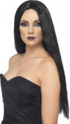 Parrucca nera da strega donna Halloween