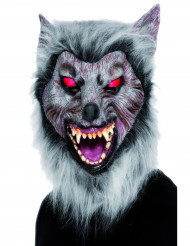 Maschera da lupo mannaro con finto pelo adulto