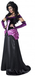 Costume contessa in viola per donna Halloween
