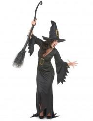 Costume da strega con fibbie per donna