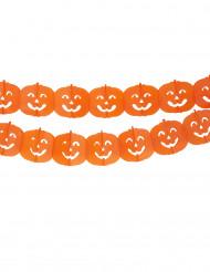 Image of Ghirlanda di carta zucca - Halloween