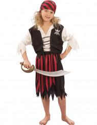 Costume pirata bandana a righe bambina