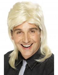 Parrucca bionda da rock-star uomo